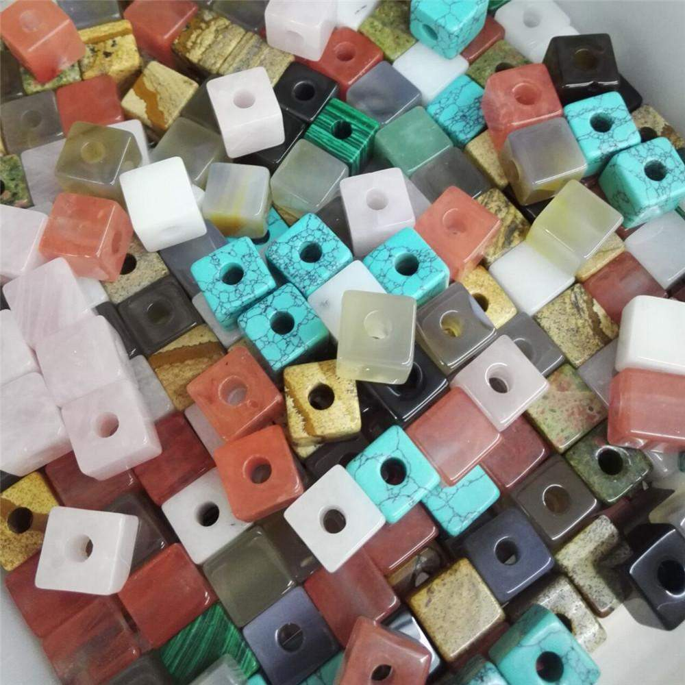 Mixed Stone Square Beads-ToShay.org