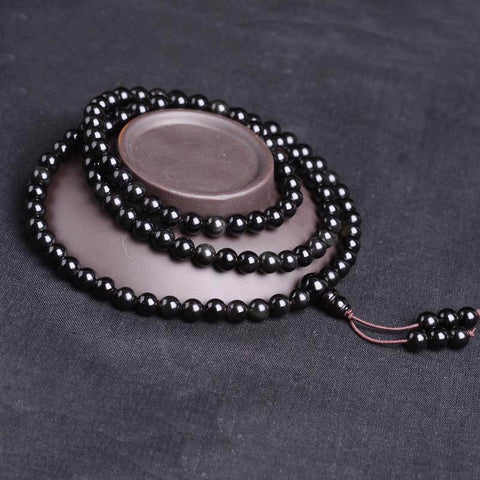 Black Rainbow Obsidian Prayer Beads-ToShay.org