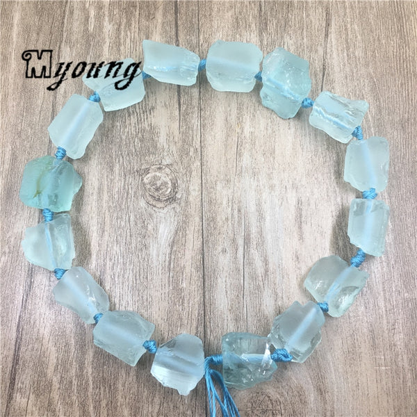 Blue Topaz Nugget Beads-ToShay.org