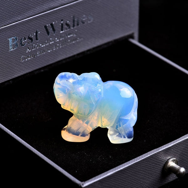 Crystal Elephant Statues-ToShay.org
