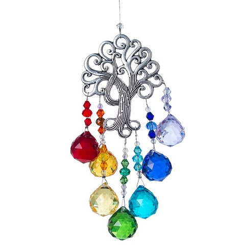 Chakra Crystal Tree of Life Suncatcher-ToShay.org