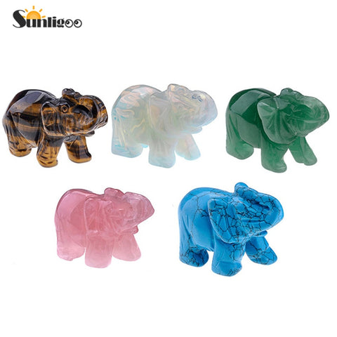 Carved Gemstones Elephant-ToShay.org