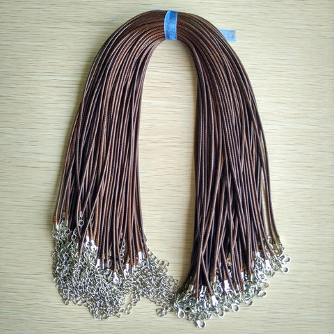 Brown Coffee Leather Cord Necklaces-ToShay.org