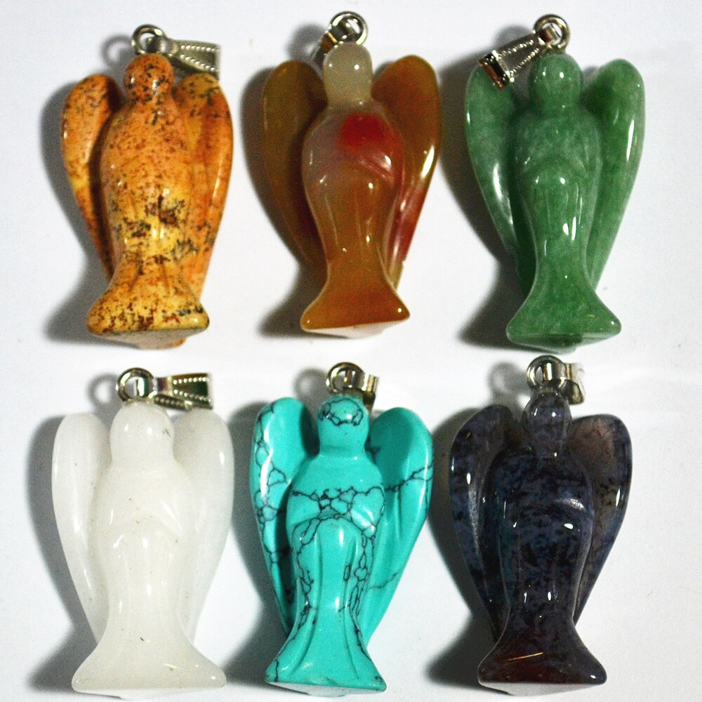 Mixed Gemstone Angel Pendants-ToShay.org