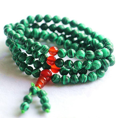 Green Malachite Prayer Bead Bracelet-ToShay.org