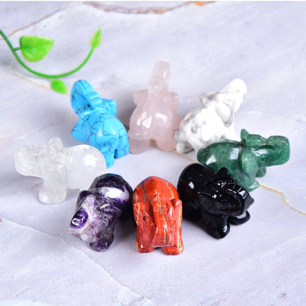 Crystal Gemstone Elephants-ToShay.org