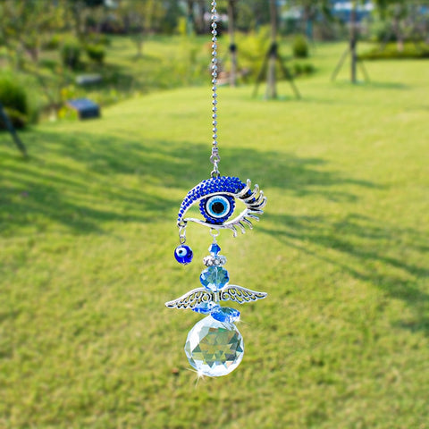 Blue Evil Eye Crystal Suncatcher-ToShay.org