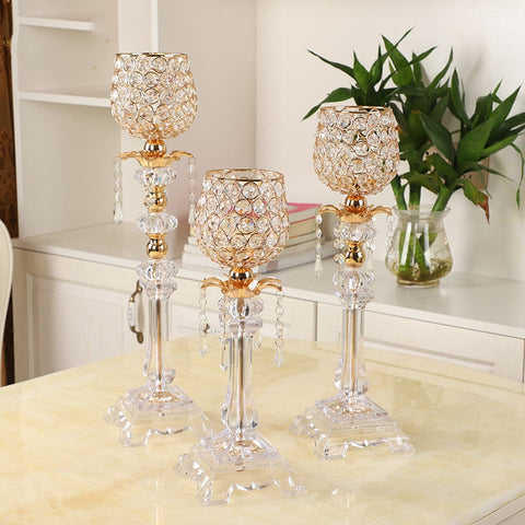 Crystal Cup Candle Stands-ToShay.org