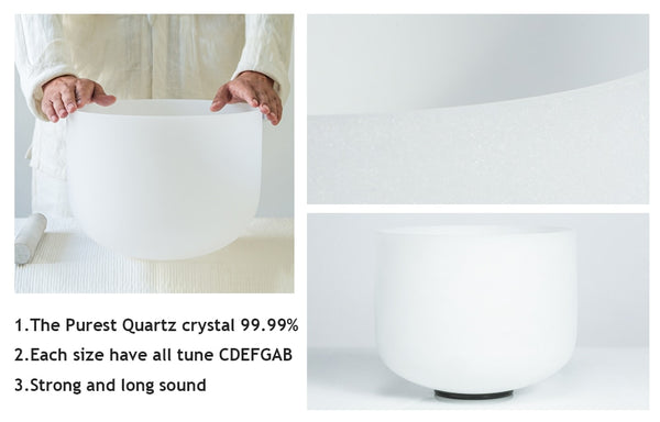 C D E F G A B Note Frosted Crystal Singing Bowl-ToShay.org