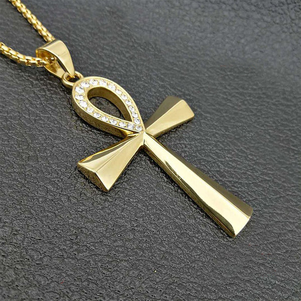 Ankh Cross Pendant Necklace-ToShay.org