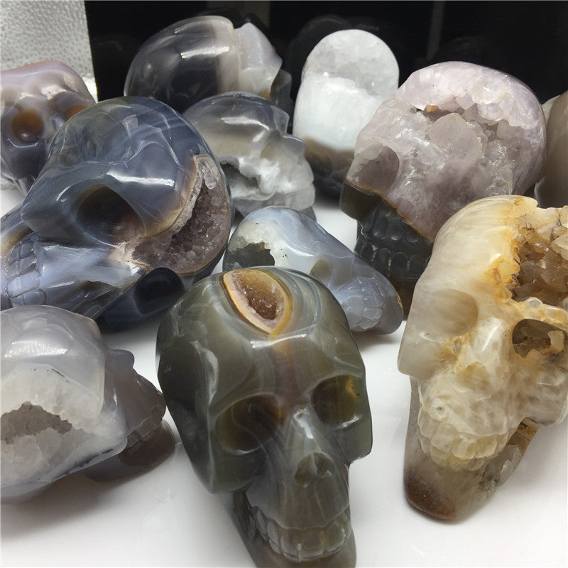 Agate Crystal Geodes Skull-ToShay.org