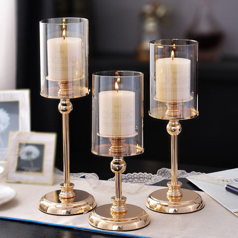 Gold Candle Holder-ToShay.org