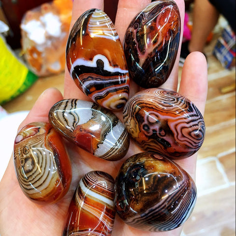 Banded Agate Palm Stone-ToShay.org