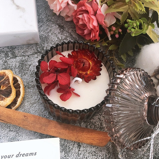 Dried Flower Candle-ToShay.org
