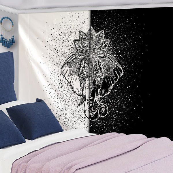 Elephant Tapestry Wall Hanging-ToShay.org