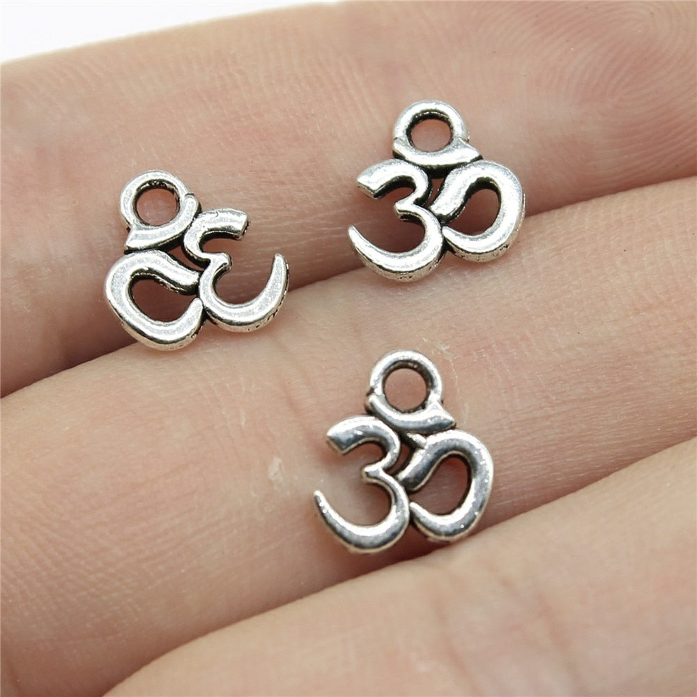 Silver Om Charms-ToShay.org