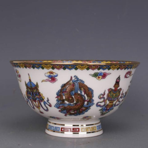 Ceramic Decorated Bowl-ToShay.org