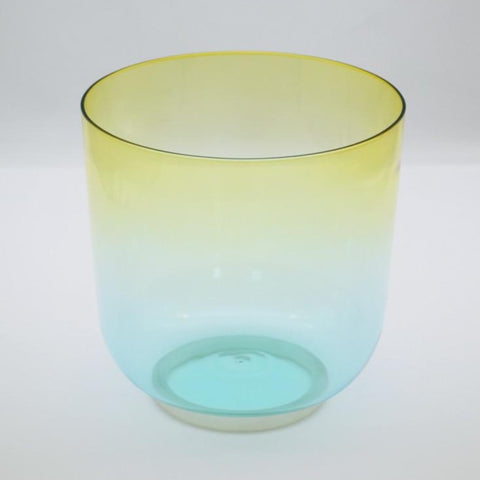 A Note Rainbow Clear Crystal Singing Bowl-ToShay.org