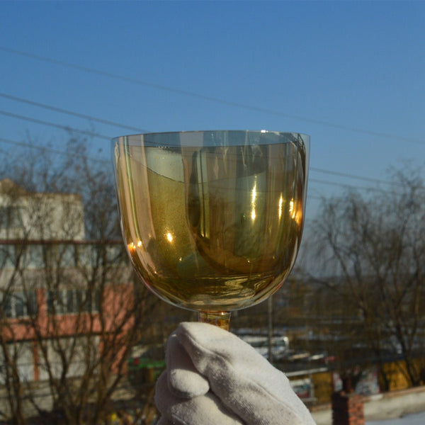 Clear Citrine Handle Crystal Singing Bowl-ToShay.org