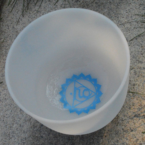 C D E F G A B Note Frosted Chakra Crystal Singing Bowl-ToShay.org
