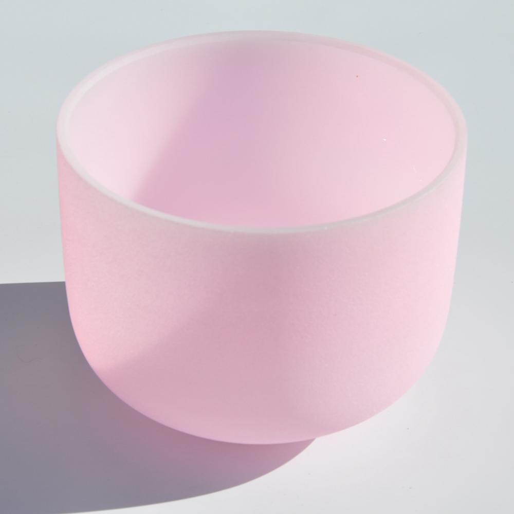Frosted Pink Crystal Singing Bowl-ToShay.org