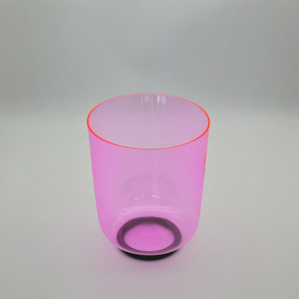 Clear Pink Crystal Singing Bowl-ToShay.org