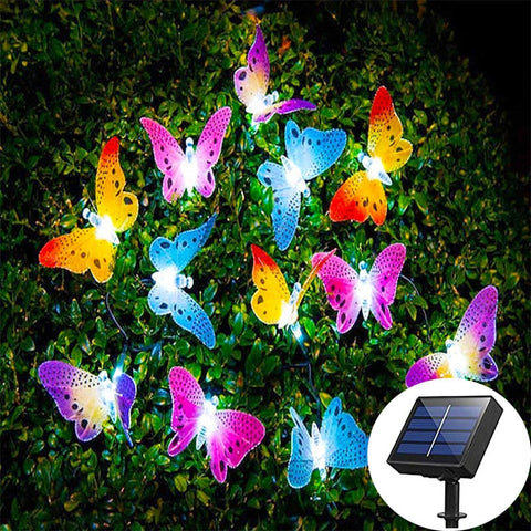 Solar Butterfly String Lights-ToShay.org