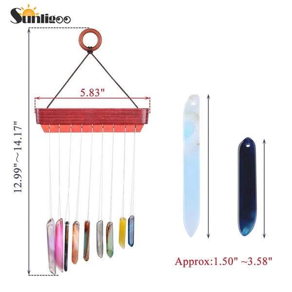 Agate Chips Wind Chimes-ToShay.org