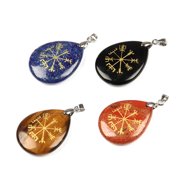 Mixed Gemstone Compass Pendants-ToShay.org