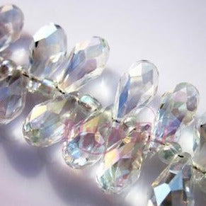 Clear Crystal Teardrop Beads-ToShay.org