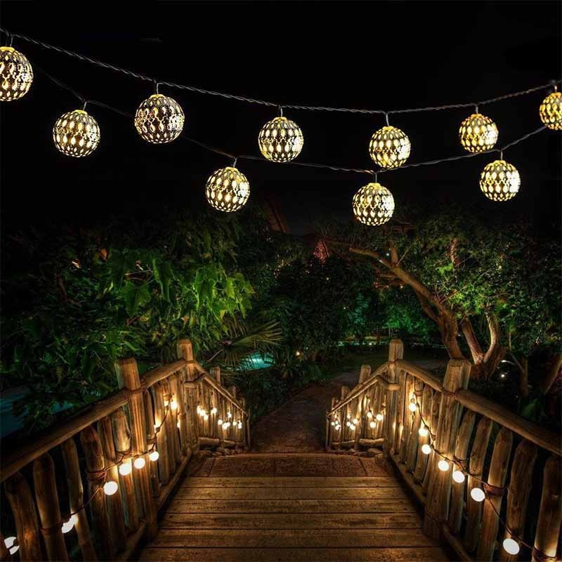 Moroccan Ball Solar String Lights-ToShay.org