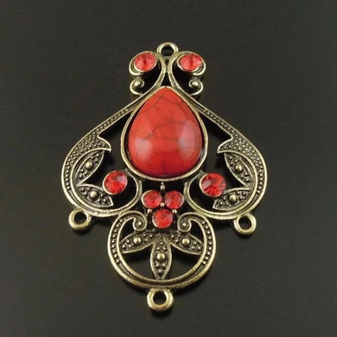 Bronze Red Gemstone Pendant-ToShay.org