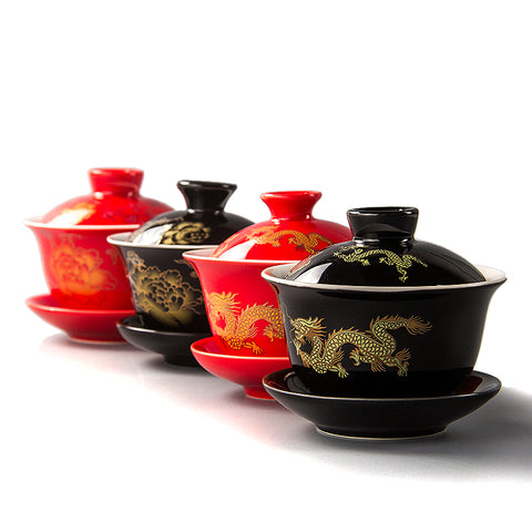 Dragon Porcelain Tea Cups-ToShay.org