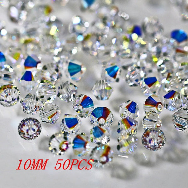 Clear Crystal AB Bicone Beads-ToShay.org