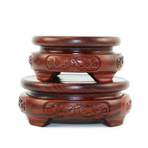 Red Sandalwood Double Dragon Base-ToShay.org