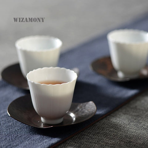 White Ceramic Tea Cup-ToShay.org