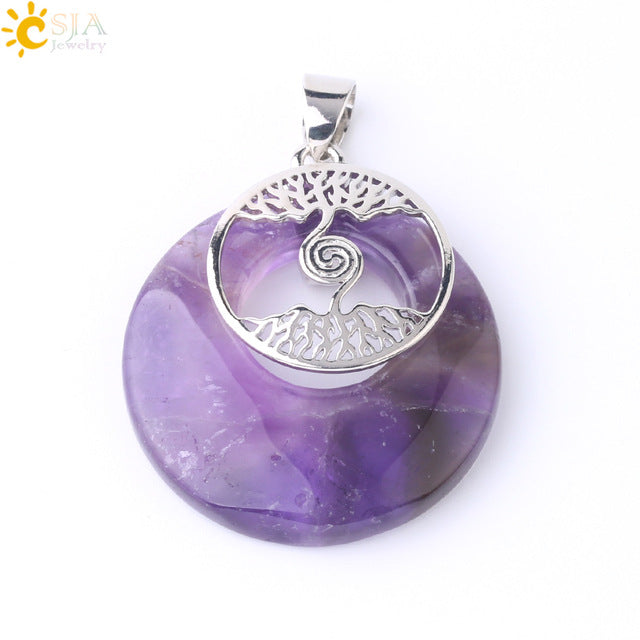 Crystal Charm Celtic Tree Pendants-ToShay.org