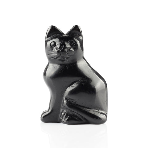 Carved Stone Cat Figurine-ToShay.org