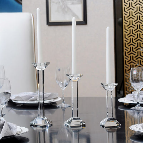 Crystal Glass Candle Holder-ToShay.org