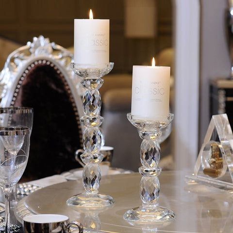 Crystal Glass Candle Holders-ToShay.org