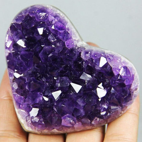 Amethyst Cluster Crystal Heart-ToShay.org