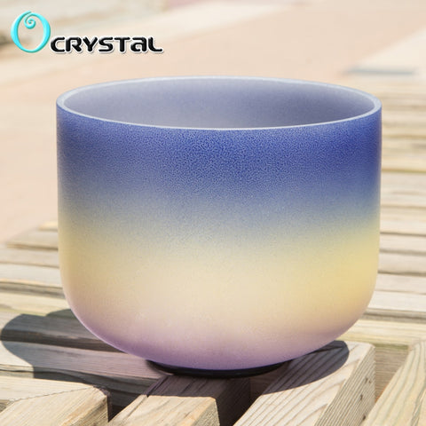 A Note Rainbow Frosted Crystal Singing Bowl-ToShay.org