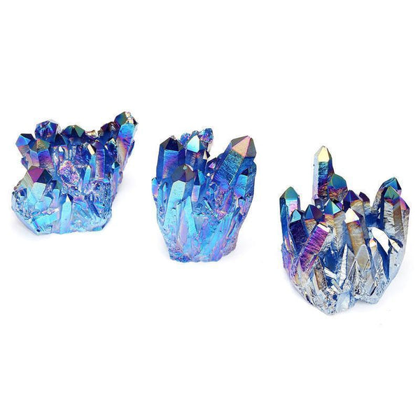 Mixed Angel Aura Crystal Clusters-ToShay.org