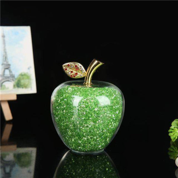 Rainstone Crystal Glass Apples-ToShay.org