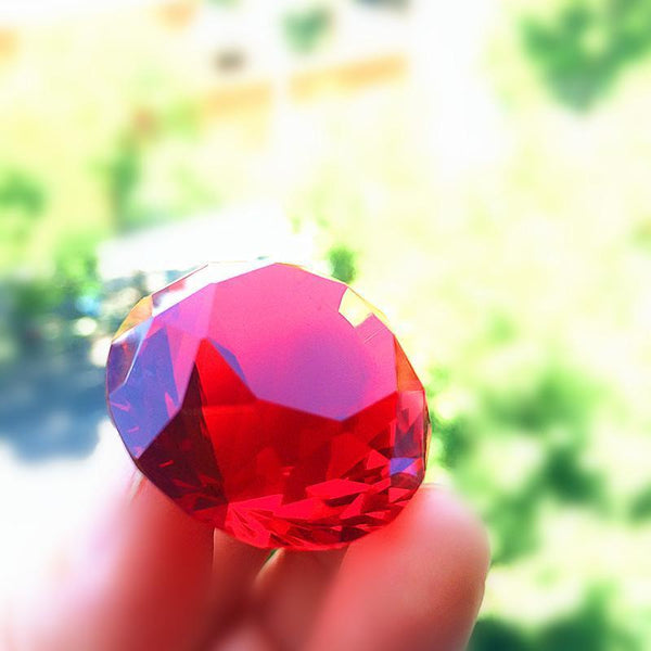 Red Crystal Diamond 30mm-ToShay.org