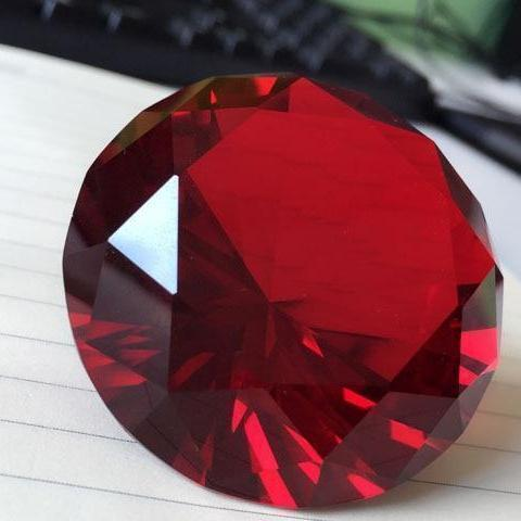 Red Crystal Diamond 80mm-ToShay.org