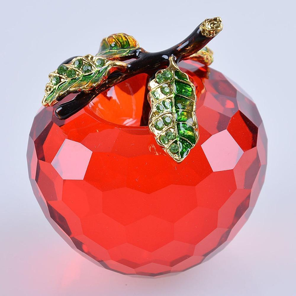Red Facet Crystal Apple-ToShay.org