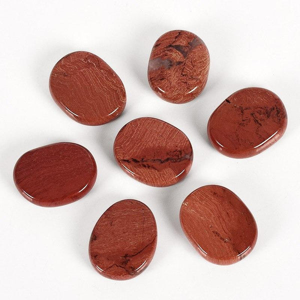 Red Jasper Palm Stones-ToShay.org