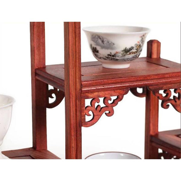 Red Mahogany Carved Stand-ToShay.org