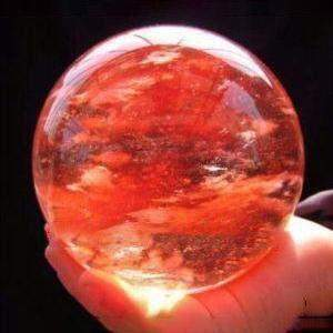 Red Quartz Crystal Ball-ToShay.org